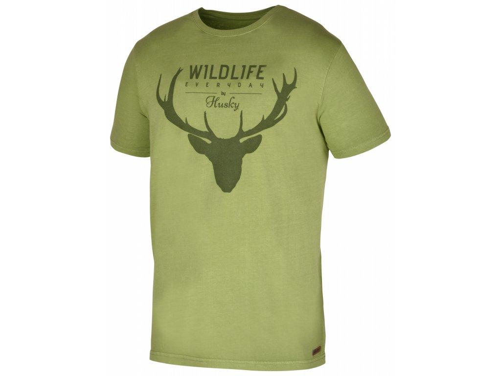 Husky Triko Deer tm.zelená