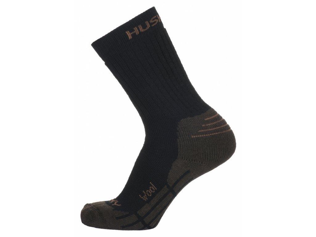 Husky Ponožky All Wool hnědá
