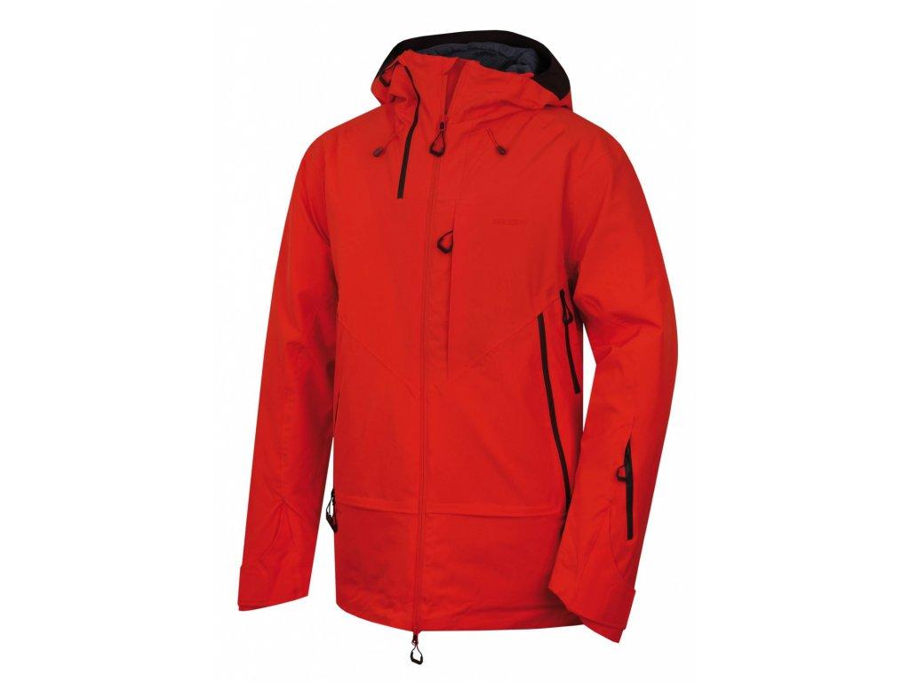 Husky Hardshell bunda Gambola výrazně červená