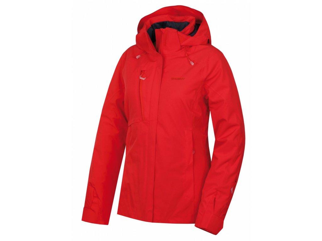 Husky Hardshell plněná bunda Gonzal jemně červená
