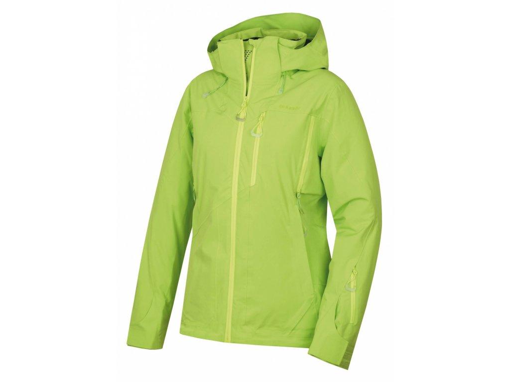 Husky Hardshell plněná bunda Montry výrazně zelená