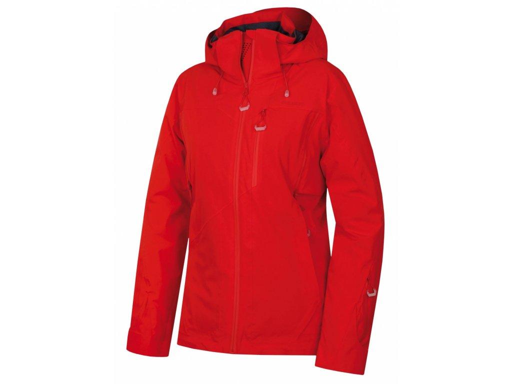 Husky Hardshell plněná bunda Montry červená
