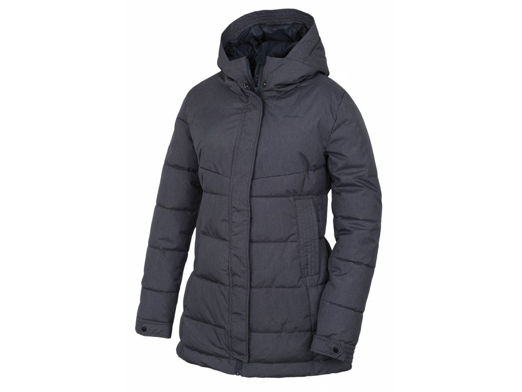 Husky Hardshell plněný kabátek Nilit antracit