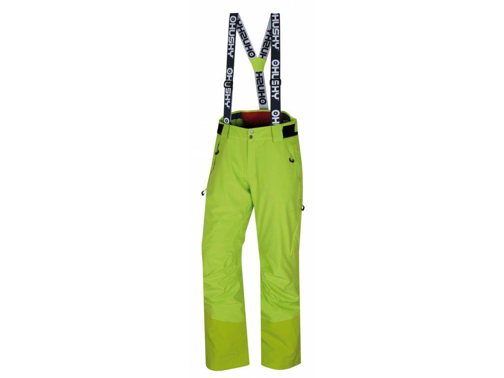 Husky Lyžařské kalhoty Mitaly výrazně zelená