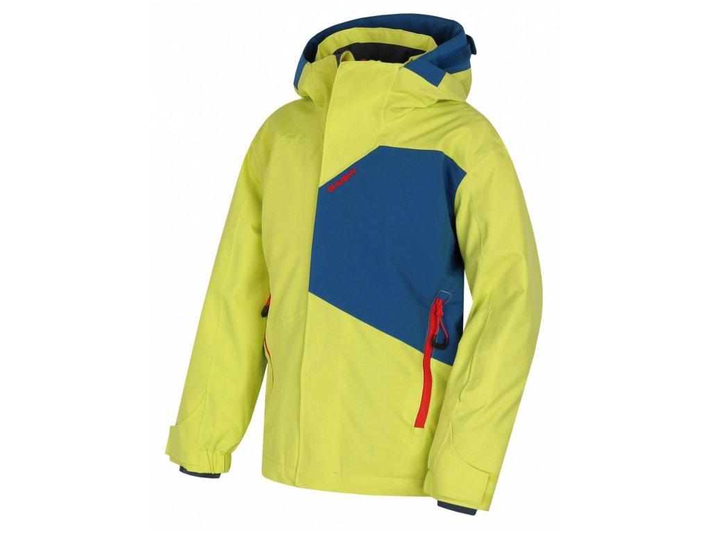 Husky Ski bunda Zort Kids sv. zelená