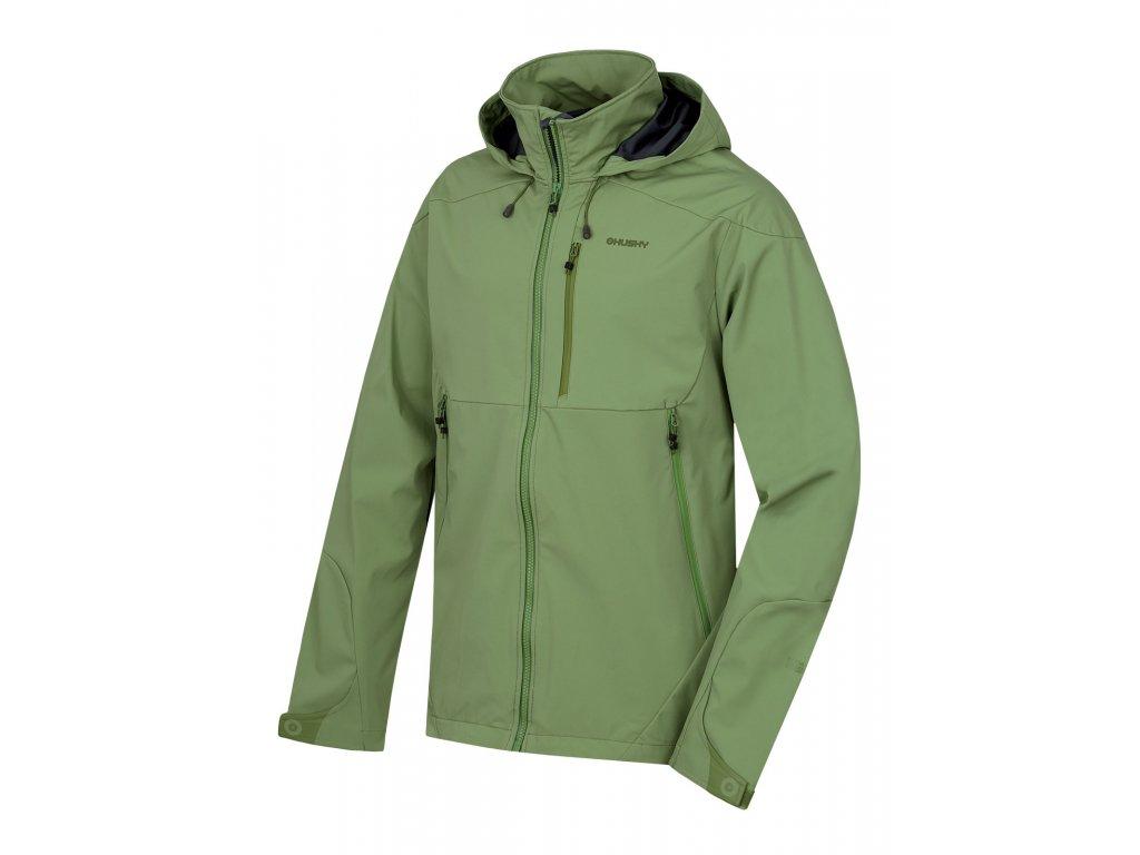 Husky Softshellová bunda Sauri tm.zelená