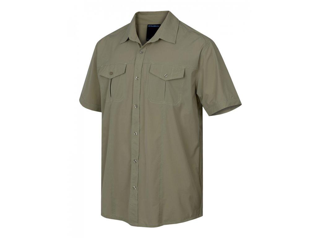 Husky Košile Gomy sv. olivová