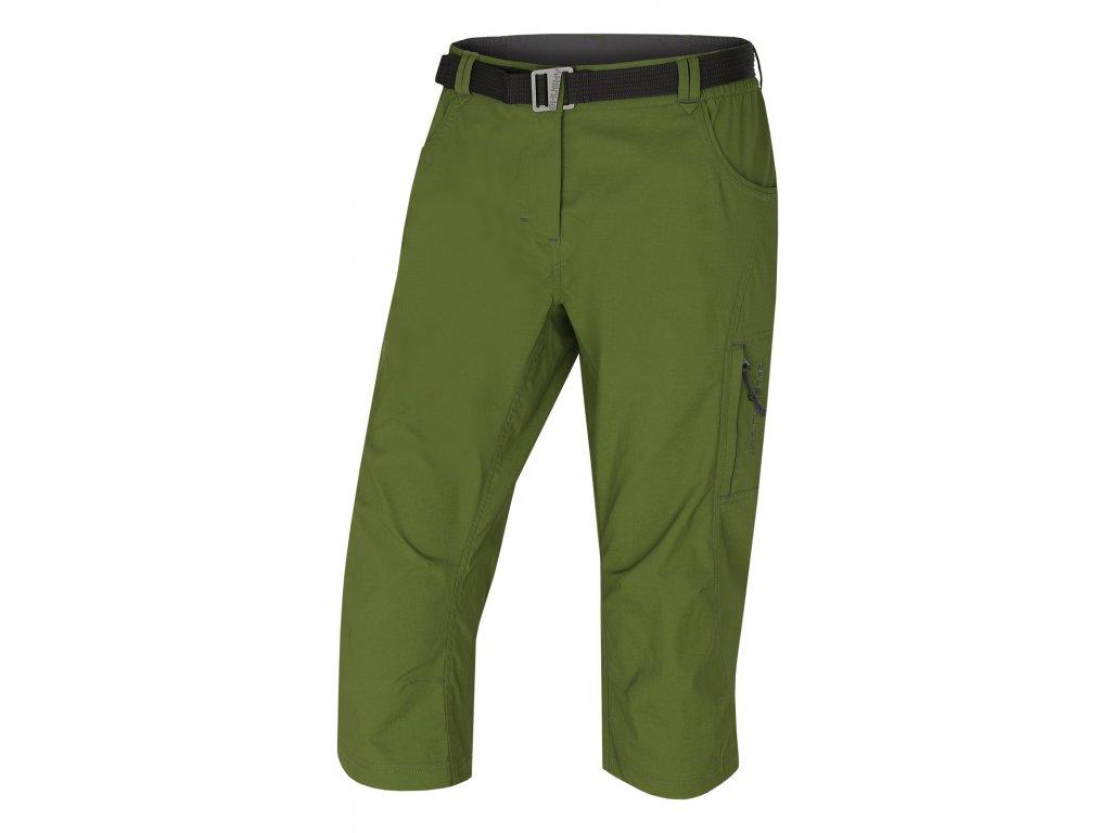 Husky 3/4 kalhoty Klery tm. zelená