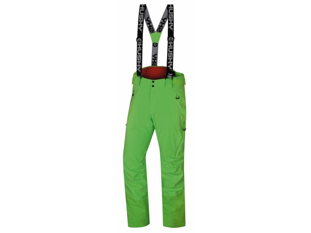 Husky Lyžařské kalhoty Mitaly neonově zelená