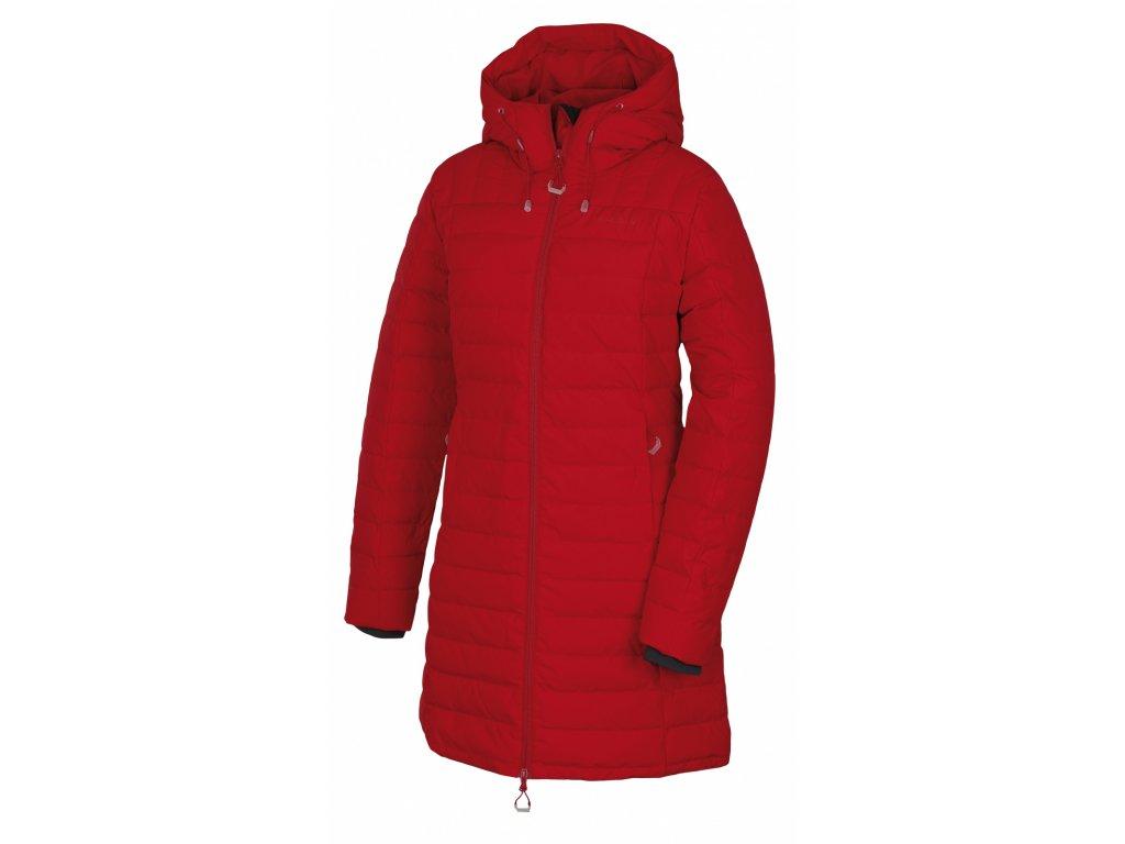 Husky Péřový kabátek Daili červená