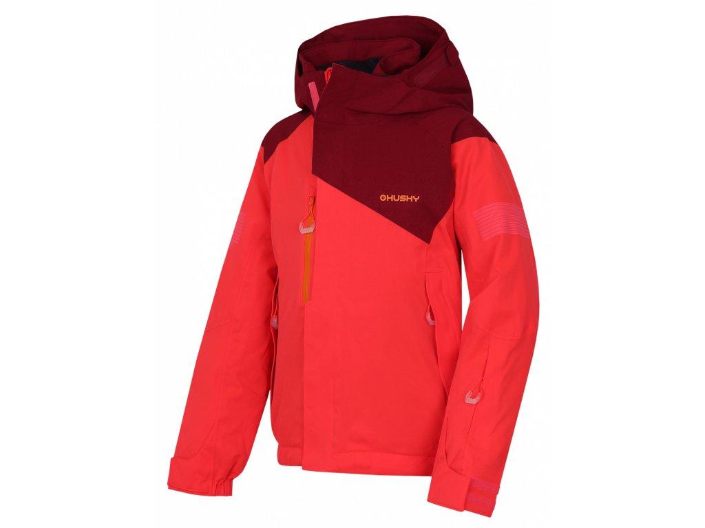 Husky Dětská ski bunda Gonzal Kids neonově růžová