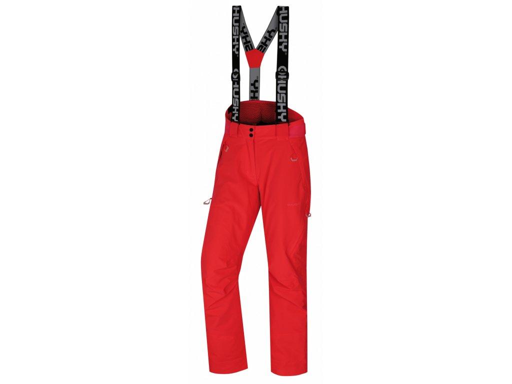 Husky Lyžařské kalhoty Mitaly neonově růžová