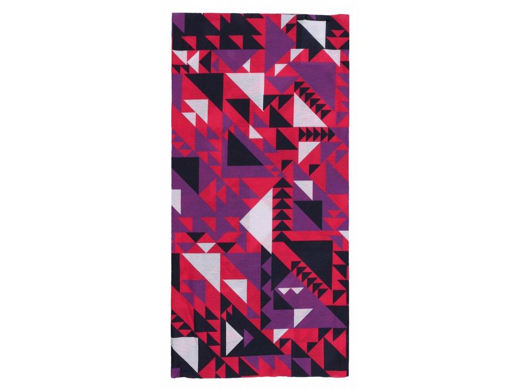 Husky Multifunkční šátek Printemp pink triangle