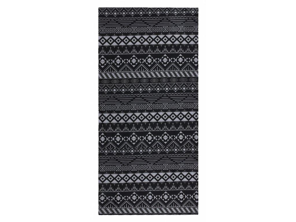 Husky Multifunkční šátek Printemp grey triangle stripes