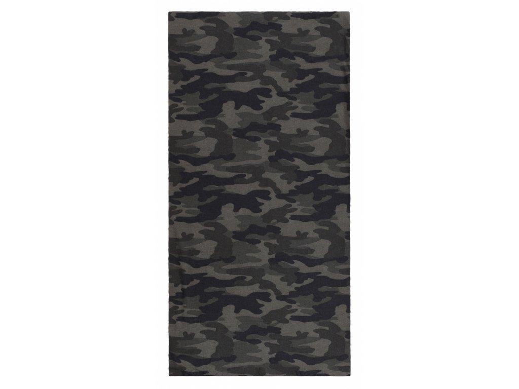 Husky Multifunkční šátek Printemp dark camouflage