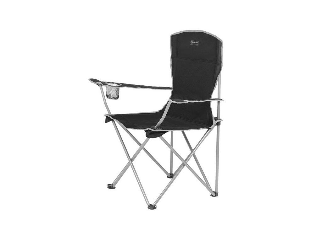 Highlander MORAY – skládací židle s opěrkami – černá