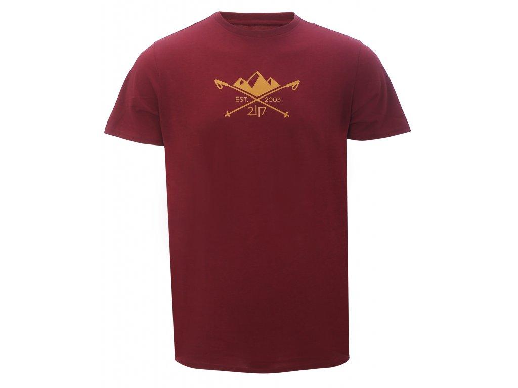 2117 APELVIKEN - triko s krátkým rukávem - Wine red