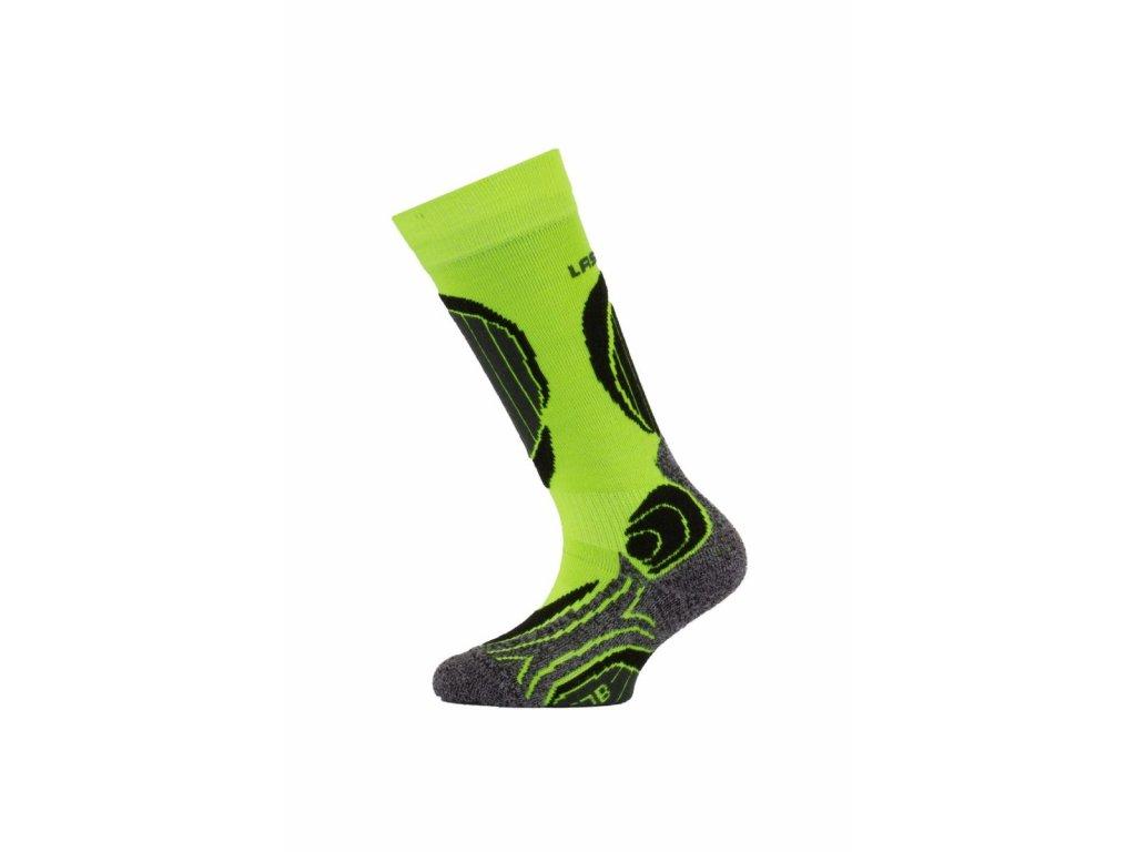 Lasting dětské merino lyžařské ponožky SJB žluté