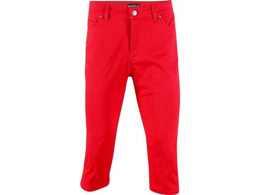 2117 MARINE - 3/4 kalhoty (jersey - spandex) - červené