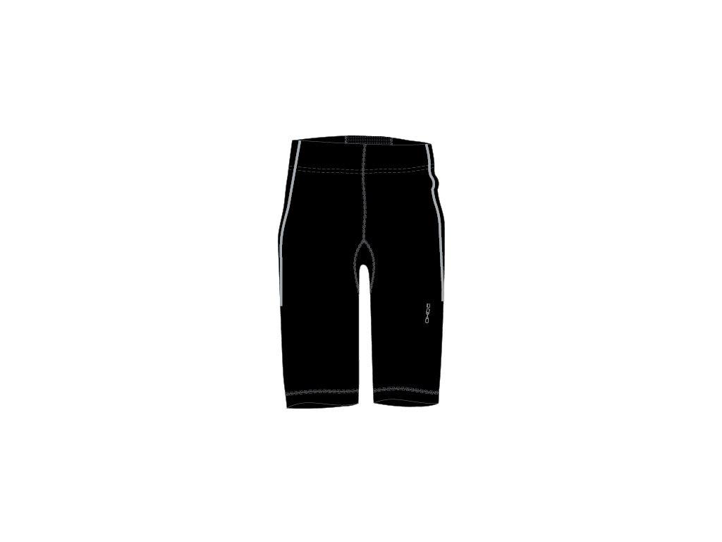 2117 OXIDE - elastické kalhoty 3/4 - černé