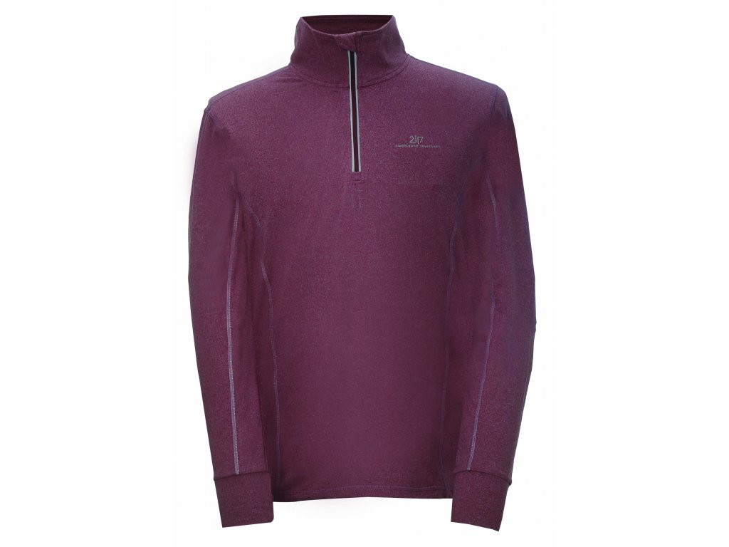2117 EKUDDEN - powerfleece mikina 1/2 zip - Wine red