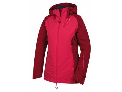 Husky Dámská lyžařská plněná bunda Gambola purpurová / růžová