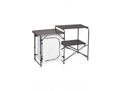 Husky Skládací stolek / Kuchyňka Moky stříbrná