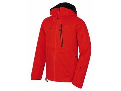 Husky Pánská lyžařská bunda Mistral výrazná cihlová