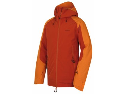 Husky Pánská lyžařská bunda Gambola oranžovohnědá
