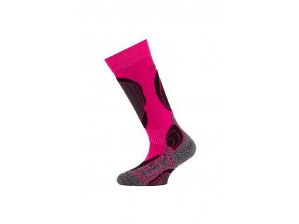 Lasting merino lyžařské ponožky SJB růžové