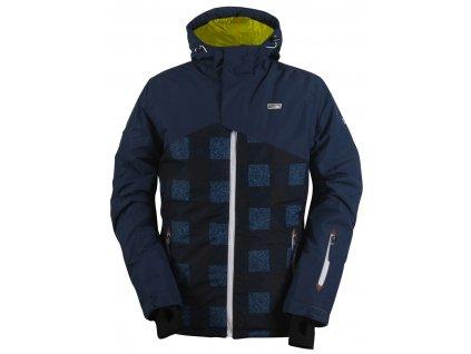 2117 STALON -pánská lehká zateplená lyž.bunda - modrá / AOP
