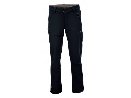 2117 BALEBO - pánské softshelové kalhoty - černé