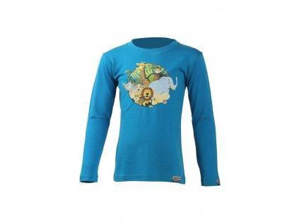 Lasting dětské merino triko ALI modré