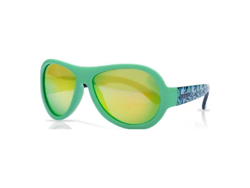 Kvalitní dětské sluneční brýle s ochranou před UVA i UVB zářením a bez BPA Shadez Designers Teeny - Leaf Print Green v zelené barvě