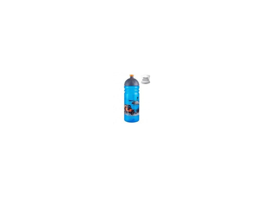 Kvalitní plastová dětská láhev bez BPA Zdravá láhev Jeep 0,7 l v modré barvě