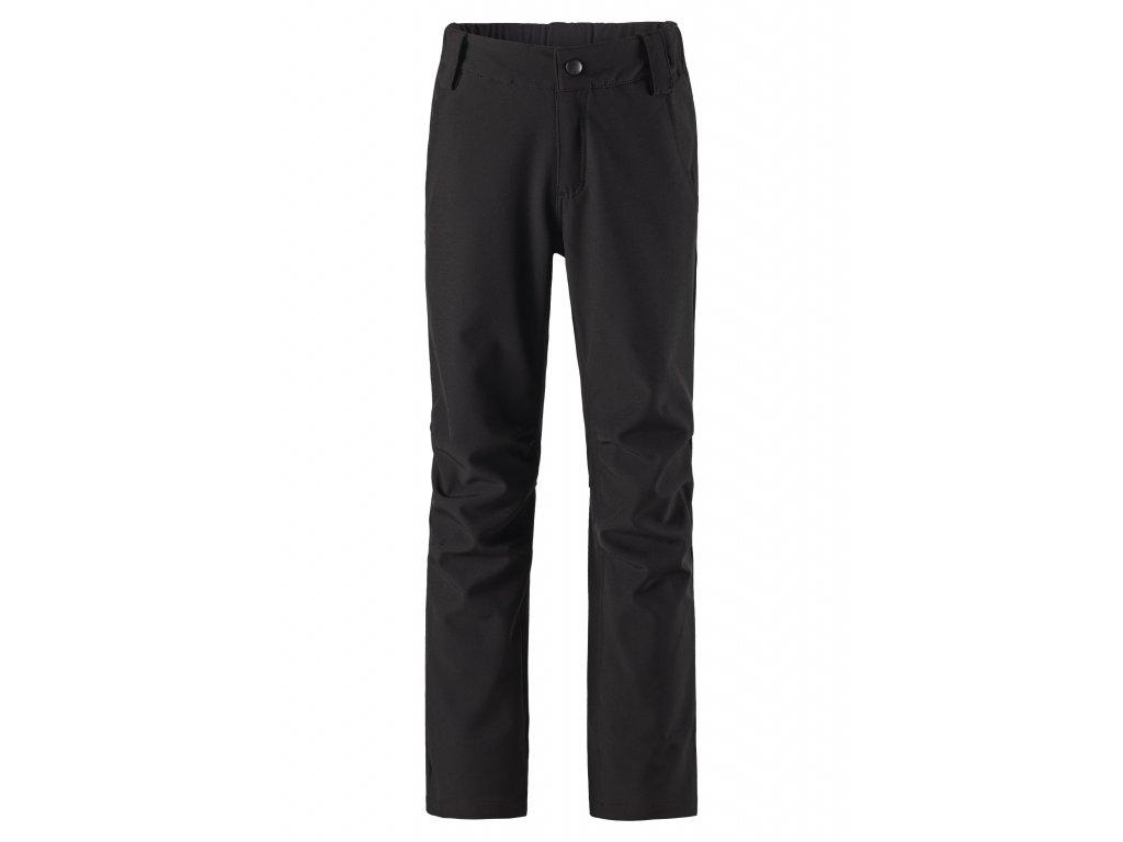 Kvalitní dětské lehké softshellové kalhoty Reima Anchor v černé barvě