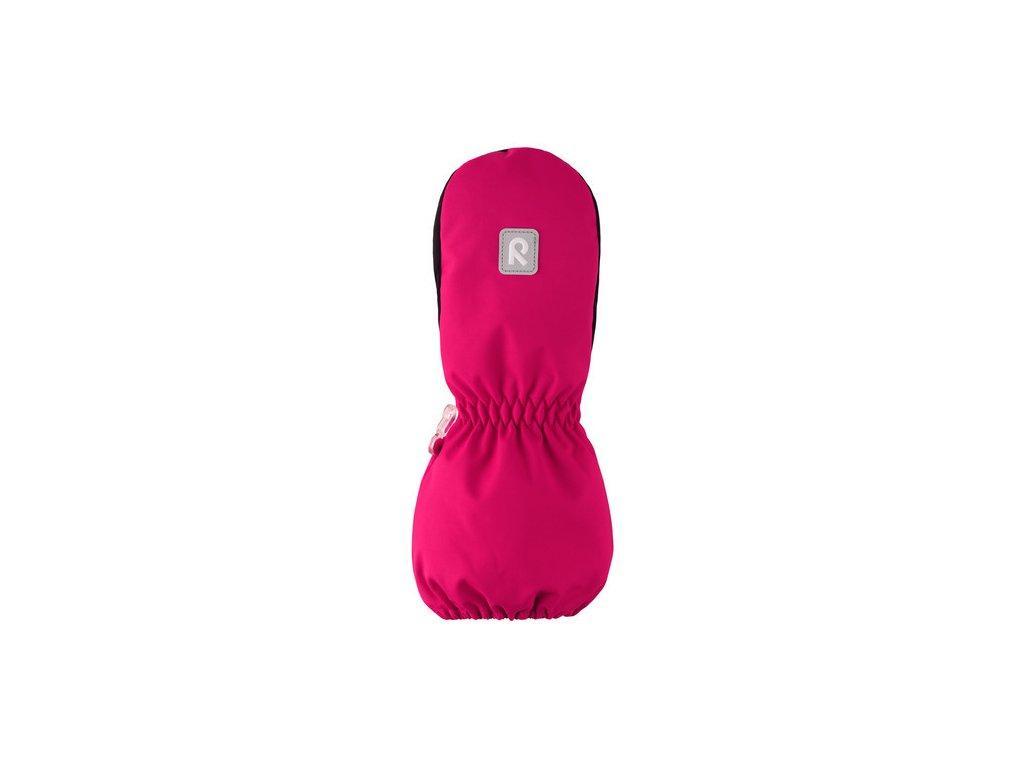 Kvalitní dětské zimní nepromokavé rukavice palčáky Reima Nouto cranberry pink v růžové barvě