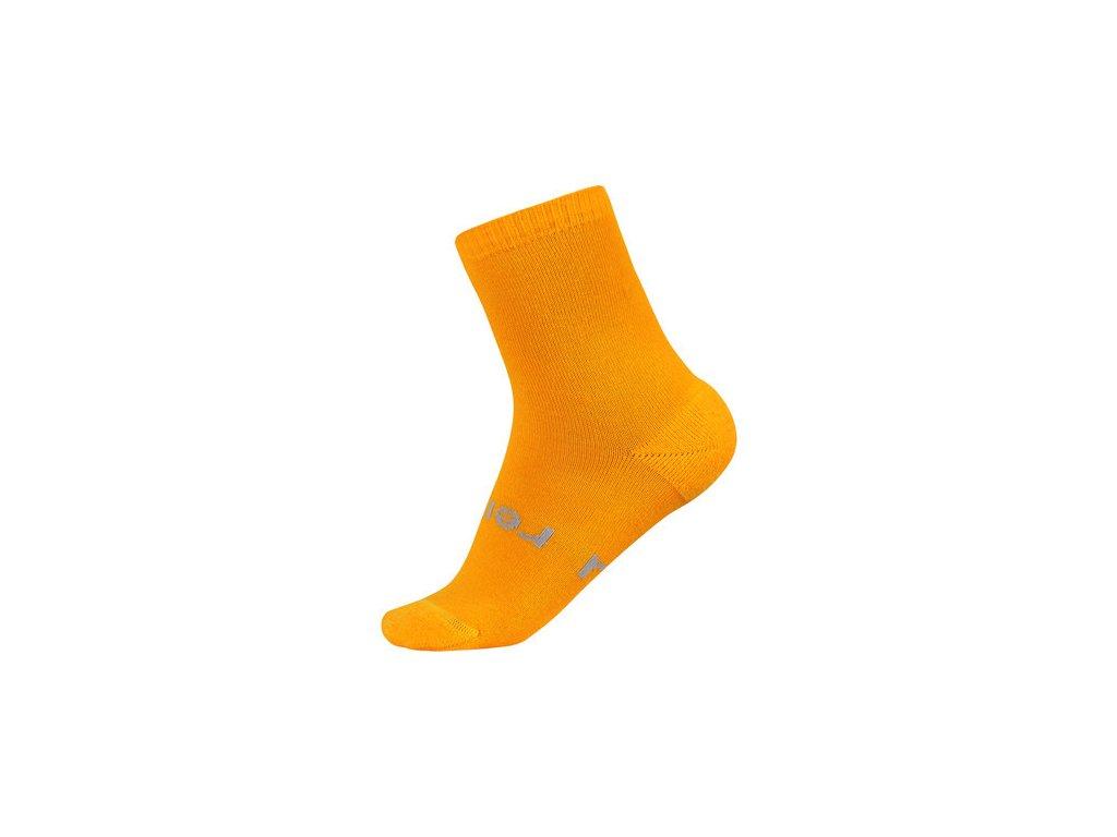 Kvalitní dětské vlněné zimní ponožky Reima Warm Woolmix v oranžové barvě