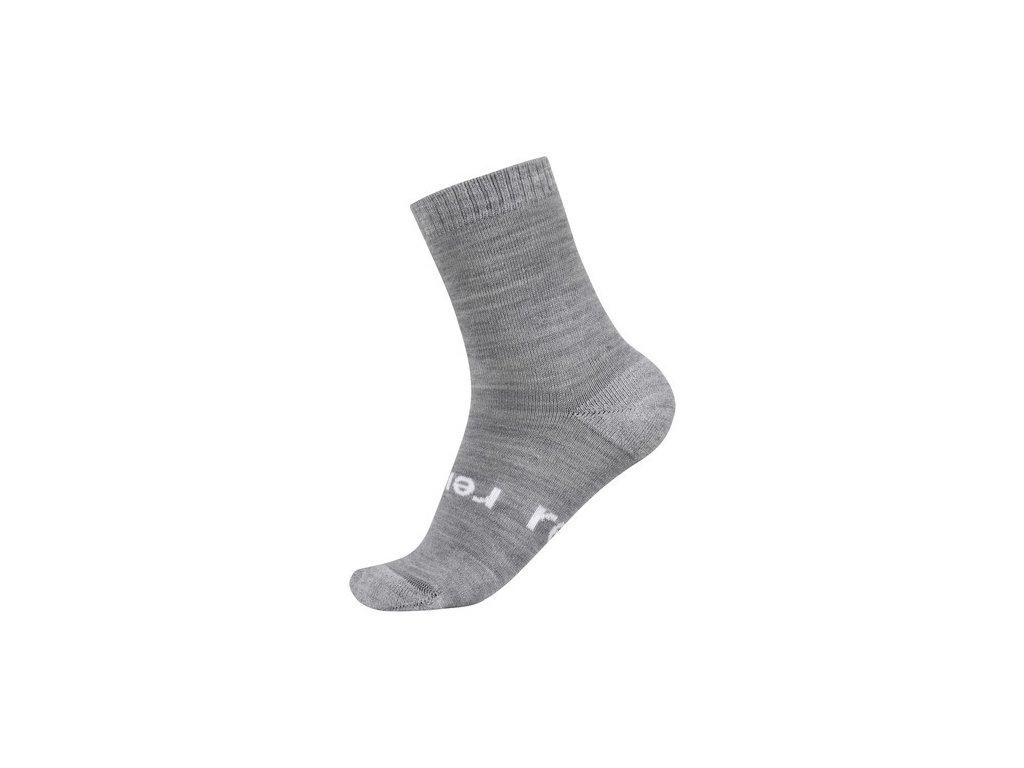 Kvalitní dětské vlněné zimní ponožky Reima Warm Woolmix v šedé barvě