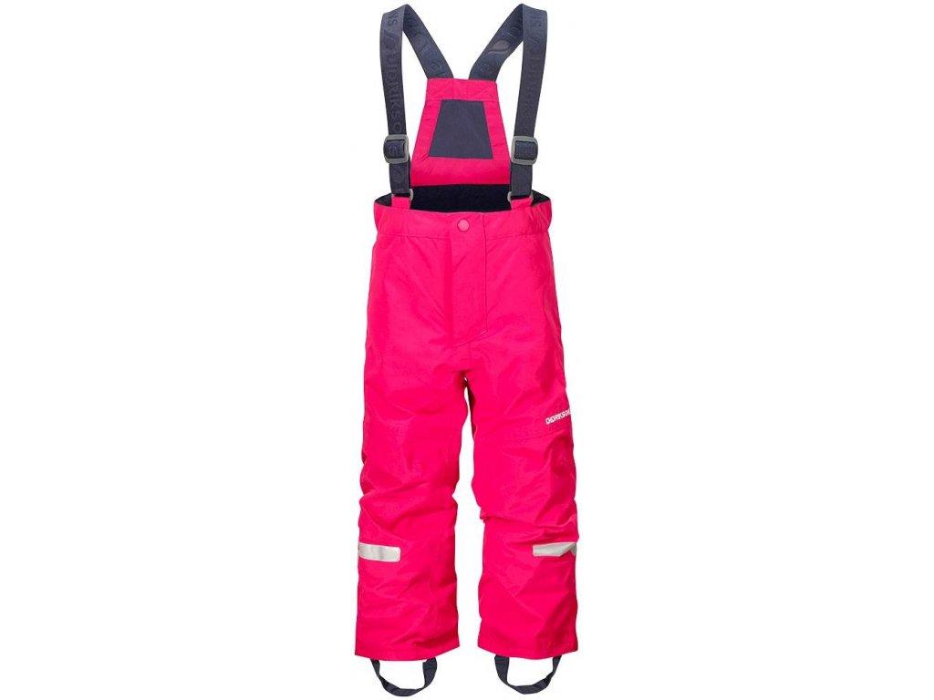 Kvalitní dětské zimní lyžařské kalhoty Didriksons 1913 Idre v růžové barvě