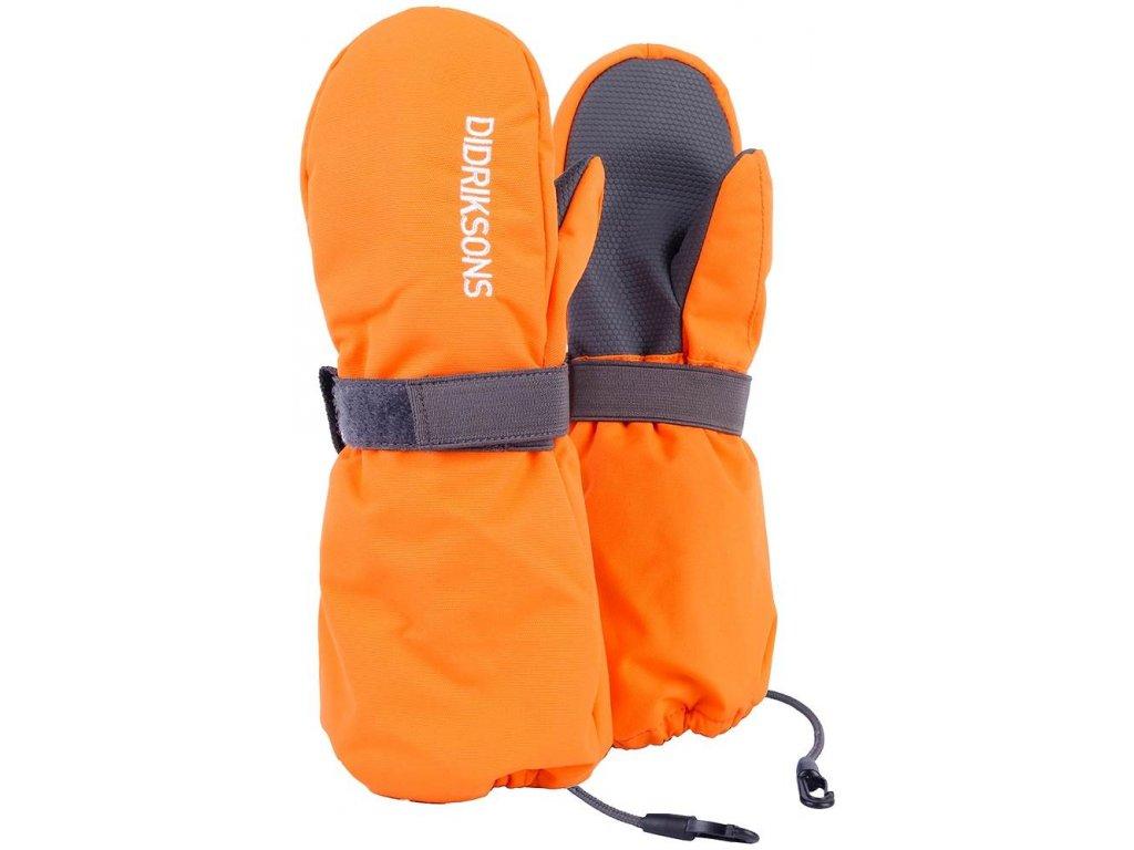 b55238543a9 Kvalitní dětské zimní nepromokavé rukavice palčáky Didriksons 1913 Biggles  v oranžové barvě