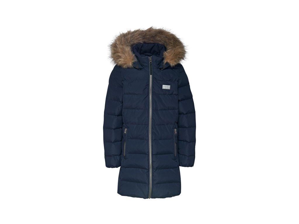 Kvalitní dětská zimní zateplená bunda s odnímatelnou kapucí a reflexními prvky LEGO® Wear Jamila 709 v modré barvě