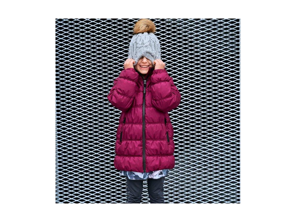 34cdb236648 ... Kvalitní dětská zimní zateplená bunda s odnímatelnou kapucí a  reflexními prvky LEGO® Wear Jamila 703