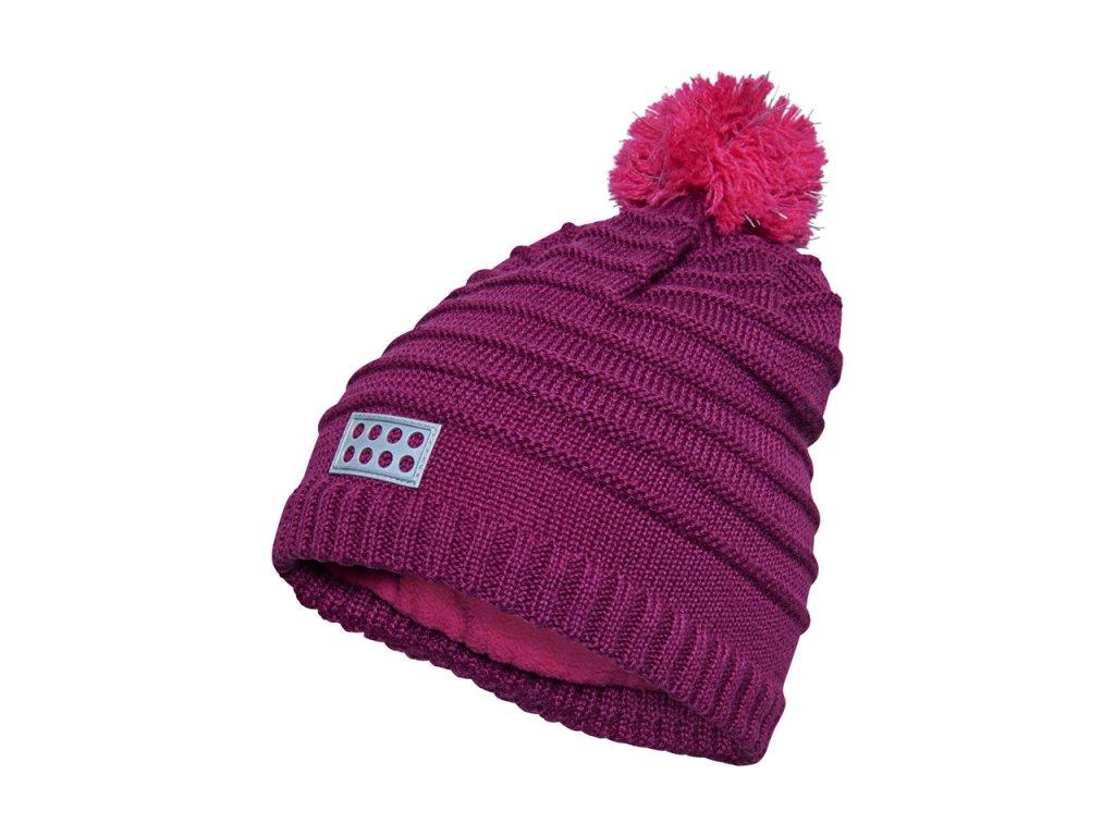Kvalitní dětská zimní čepice LEGO® Wear Aiden 712 ve fialové barvě