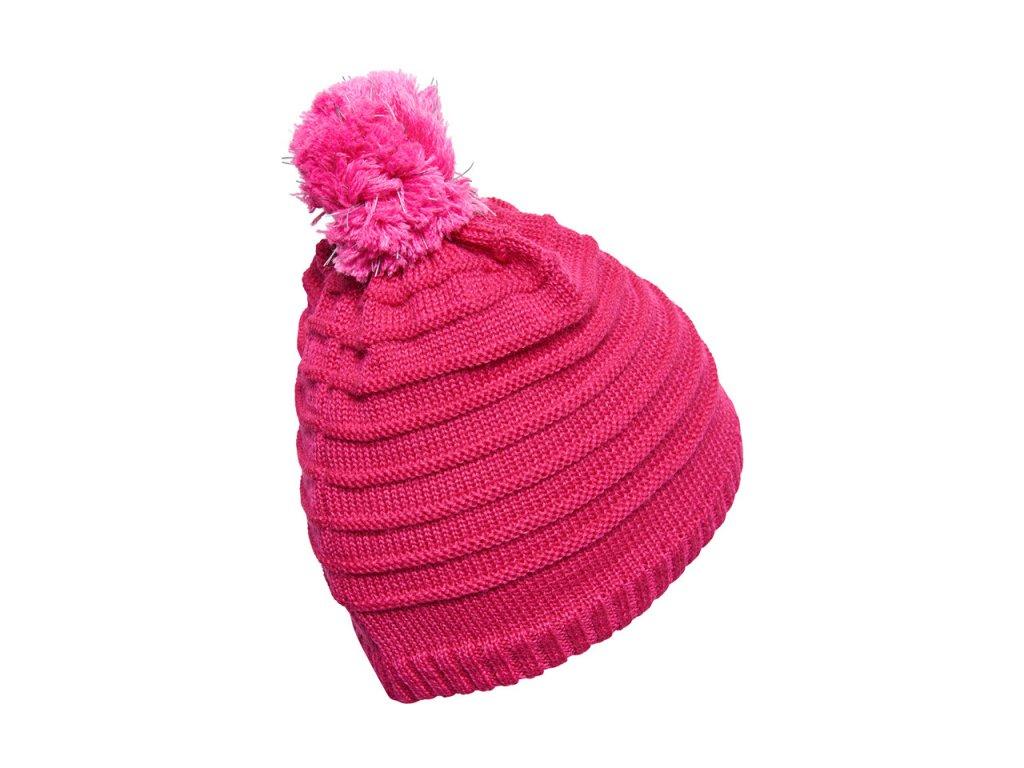 Kvalitní dětská zimní čepice s bambulí LEGO® Wear Aiden 712 v růžové barvě  · Uvnitř má měkký a hřejivý fleece 82eb387d8e