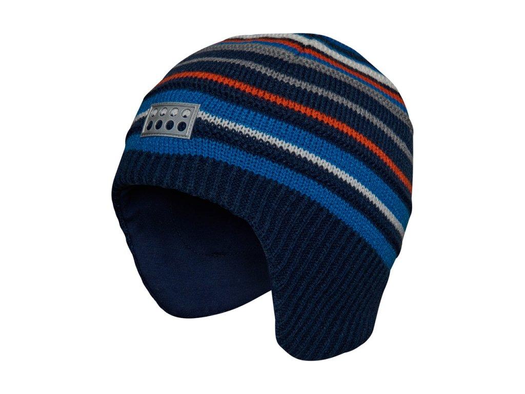 Kvalitní dětská zimní pletená čepice LEGO® Wear Andrew 714 v modré barvě