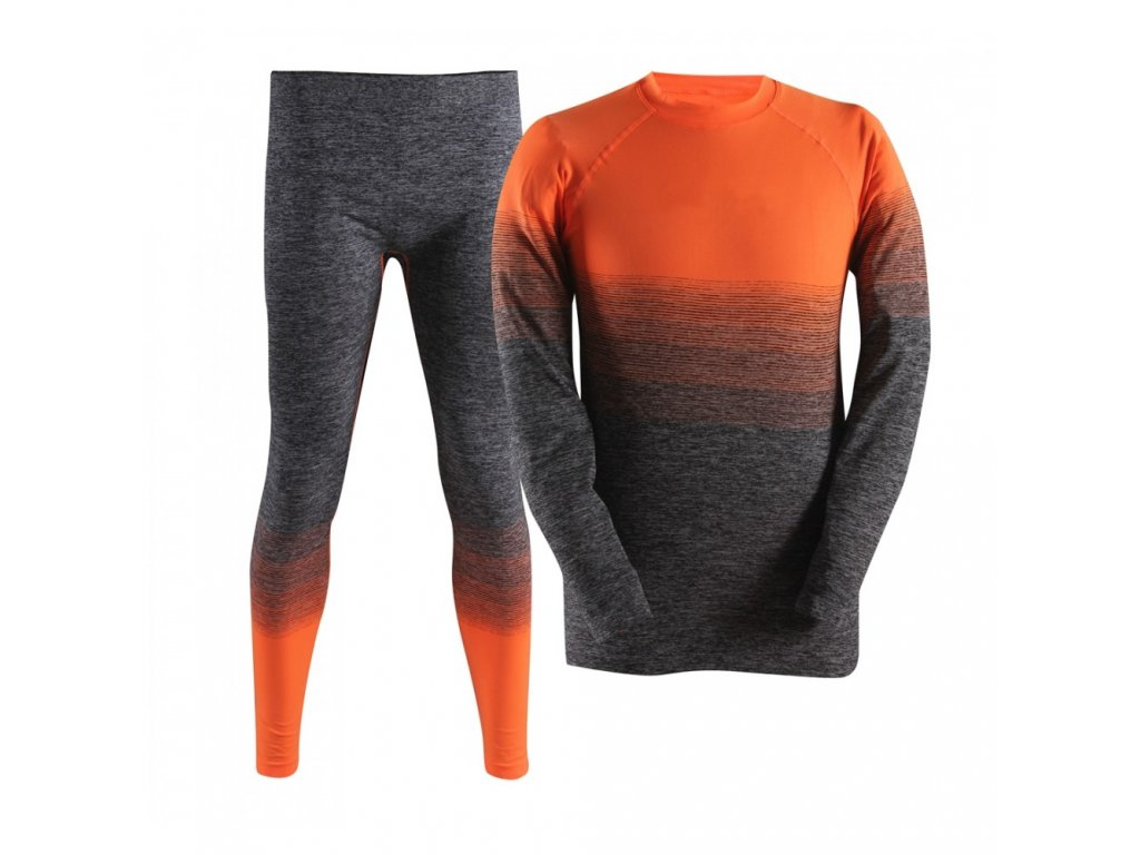 Kvalitní dětské teplé a příjemné funkční prádlo 2117 of Sweden v oranžové barvě