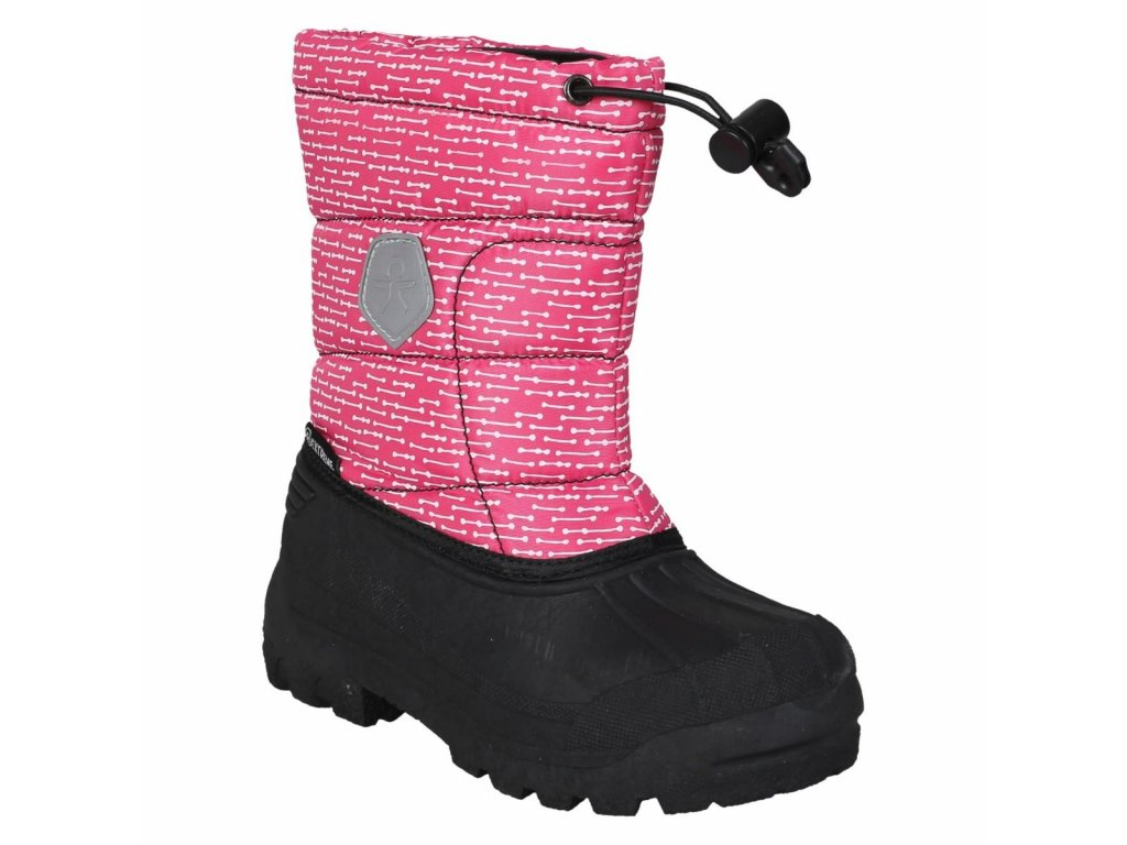 Dětské zimní boty Color Kids Dylano rasberry