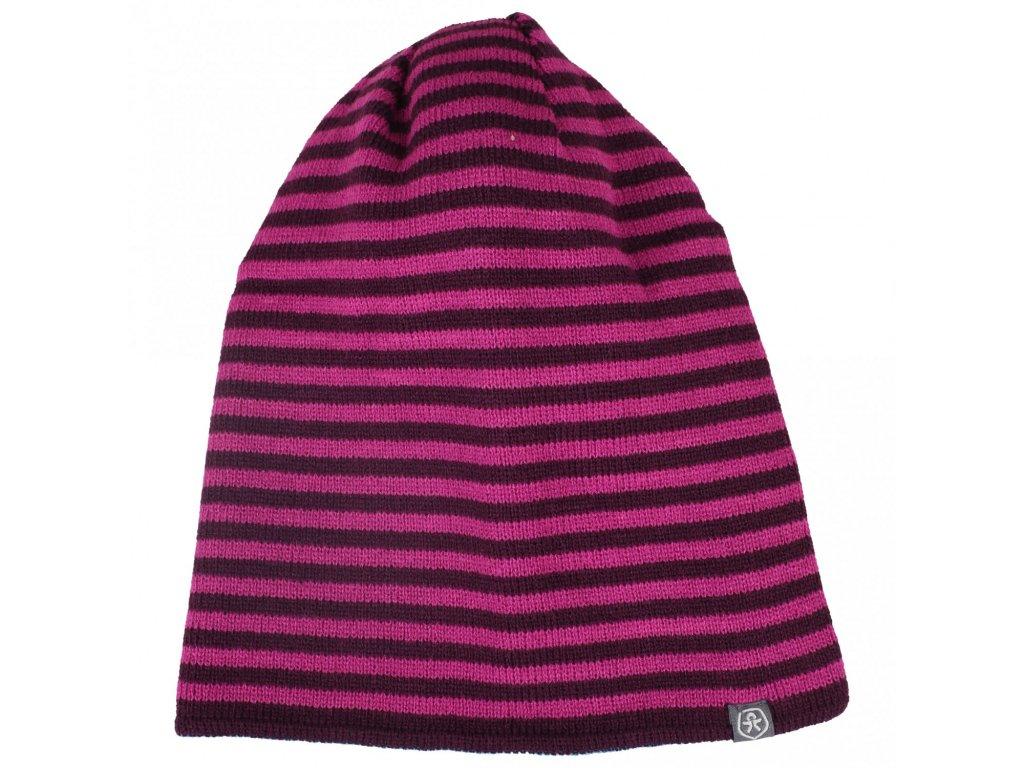 Kvalitní dětská zimní čepice Color Kids Sullivan berry ve vínové barvě 76a864589f