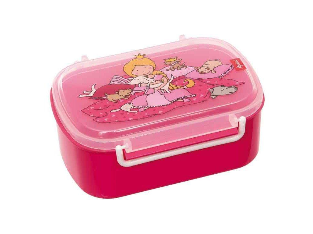 Kvalitní dětský plastový box na svačinu Sigikid Pinky Queeny - princezna new v růžové barvě